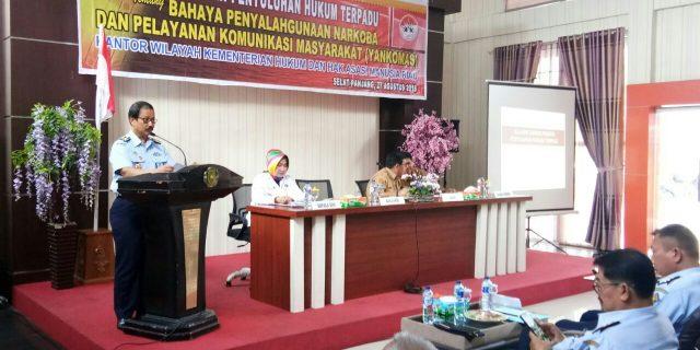 Kanwil Kemenkum HAM Riau Bersama Pemkab Meranti Gelar Penyuluhan Hukum Narkoba dan Yankomas