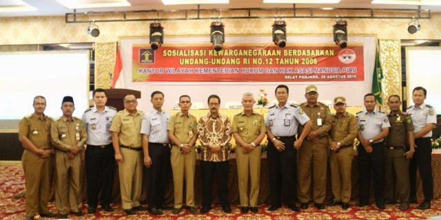 Pemkab Meranti Gelar Sosialisasi UU-RI No.12 Tahun 2006 Bersama Kanwil Kemenkum HAM Riau