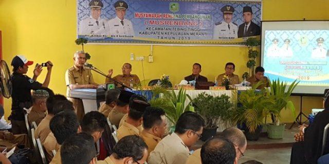 Musrenbang Kecamatan Tebing Tinggi, Wabup Said Hasyim Minta Para OPD fokus Pada tiga Program Prioritas