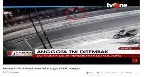 Detik-detik Penembakan Letkol Dono Terekam CCTV,Pelaku Cuek pada Pengendara Lain