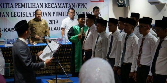 Bupati Meranti,Irwan Nasir Dukung KPUD Sukseskan Pemilu di Meranti