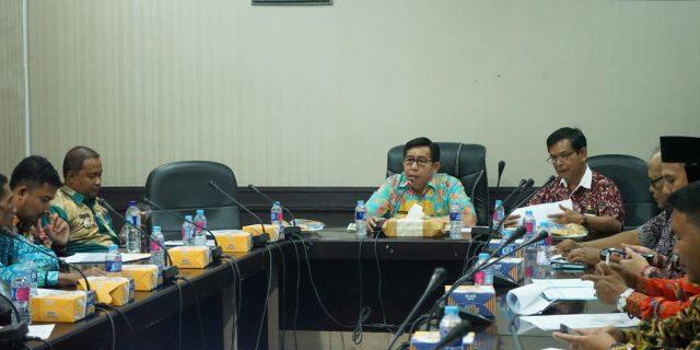 Sekdakab Meranti,Yulian Norwis Buka Rapat Persiapan Penetapan NJOP di Kec.Tebing Tinggi