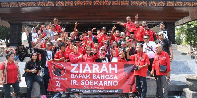 Tidak ingin melupakan sejarah,PDIP Kota Tangerang ziarahi Makam Bung Karno