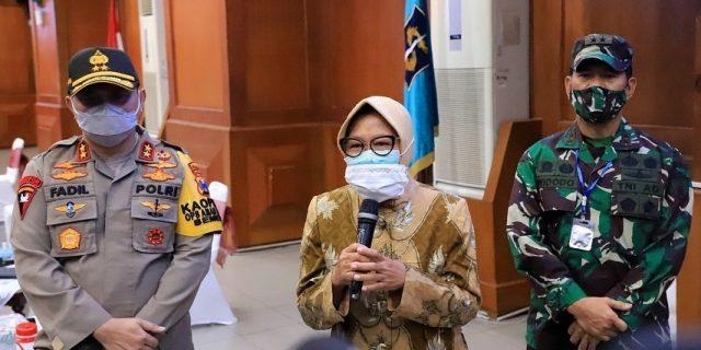 Pemkot Surabaya Gelar Rakor Bertajuk Analisa Dan Evaluasi PSBB Bersama Jajaran TNI POLRI