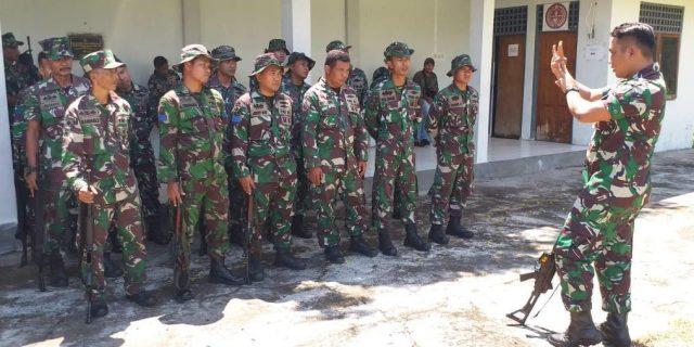 Asah Kemampuan Latihan Menembak Prajurit Mako Lantamal VII