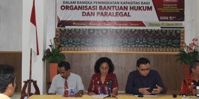 Tingkatkan Kapasitas OBH dan Paralegal,Kantor Wilayah Hukum dan Ham NTT Adakan Bimtek.