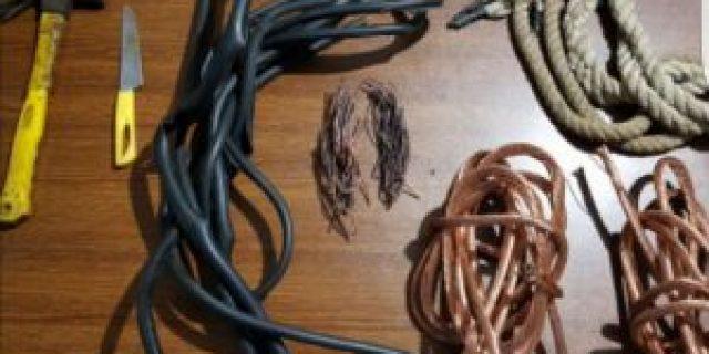 Dua Pelaku Pencurian Kabel Optik PLN Diamankan Polisi,Tiga Lagi Jadi DPO