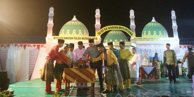 Musabaqoh Tilawatil Quran (MTQ) Ke 8 Sekecamatan Pulau Merbau Resmi dibuka