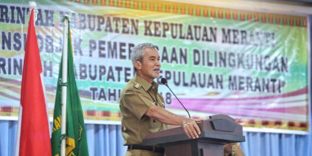 Wakil Bupati Meranti Buka Kegiatan Asistensi Objek Pemeriksaan Dilingkungan Pemkab Meranti