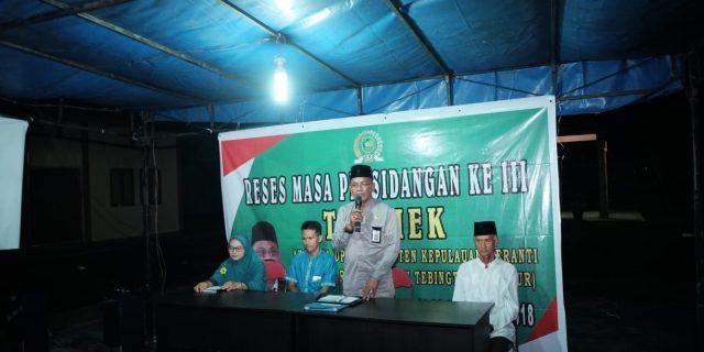 At Taufiek Gelar Reses di Rangsang, Masyarakat Minta Stabilkan Harga Comodity Pangan