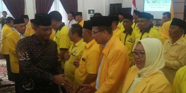 Ketua DPD II partai Golkar Rohil  H Fuad Ahman di Lantik