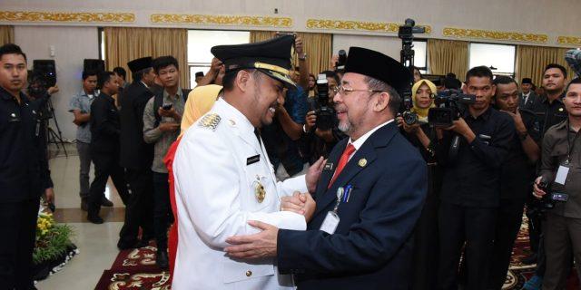 Wakili Bupati Bengkalis, Sekda H Bustami HY Hadiri Pelantikan Catur Sugeng Susanto