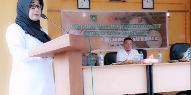 Dinas Sosial Kabupaten Bengkalis, Melaksanakan Sosialisasi BPR dan Non BPNT