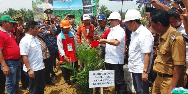 Bupati Rohil bersama Frokopimda Sambut Kunker Kepala Staf Kepresidenan Jendral TNI (purn) Moeldoko