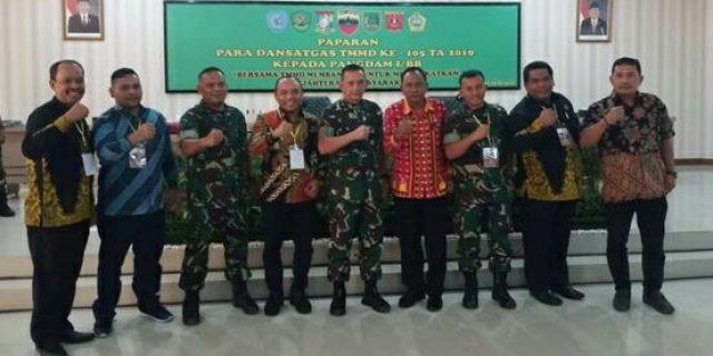 Plt. Bupati Labuhabatu Ikuti Rakornis TMMD ke-105 Tahun 2019 di Makodam I/BB