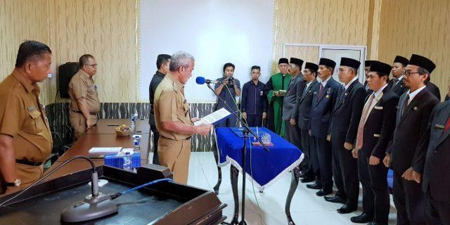 Wabup Meranti Lantik 15 Orang Pejabat, Tasrizal Harahap Jabat Kepala Badan Kesbang Meranti
