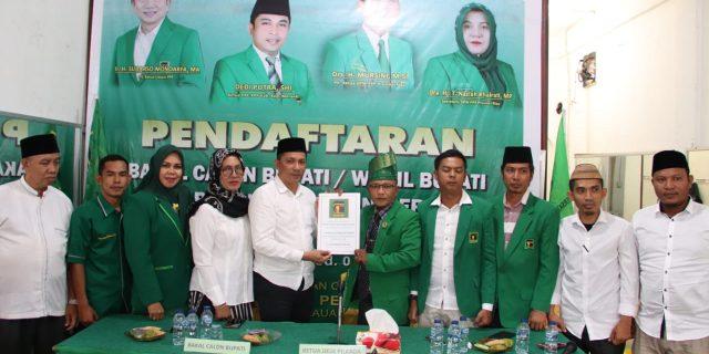 Kembalikan Formulir Pendaftaran Ke DPC PPP, H.Muhammad Adil Paparkan Sedikit Visi Dan Misinya