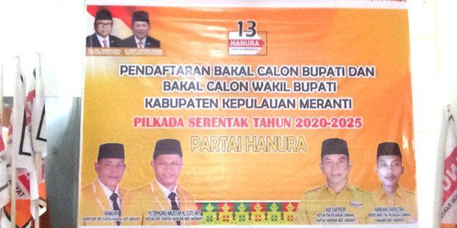 Partai HANURA Resmi Buka Pendaftaran Bakal Calon Bupati dan Wakil Bupati Meranti