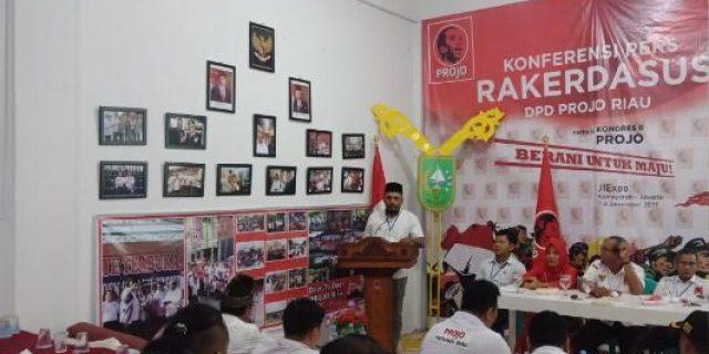 Projo Kepulauan Meranti Ikuti Rakerdasus Projo Provinsi Riau