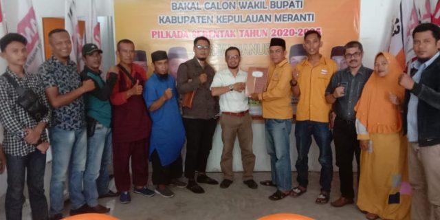 Bacalon Bupati Mahmuzin Taher Mendaftar ke Hanura
