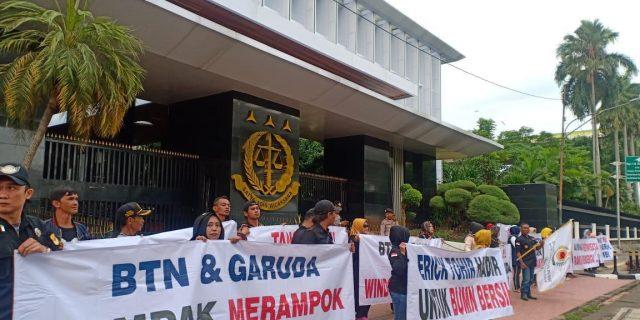 Dewan Pimpinan Pusat BPKP Demo Kejaksaan Agung RI