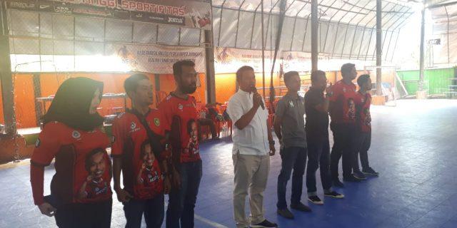 Hery Saputra SH Buka Turnamen Futsal Piala Ketua Askab. PSSI Meranti 2019, Bina Milenial Jadi Duta Olahraga Daerah
