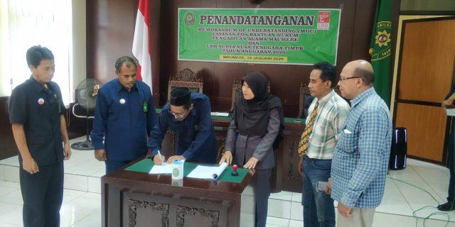 Perdana, PA Maumere Jalin Kerja Sama Dengan LBH Surya NTT