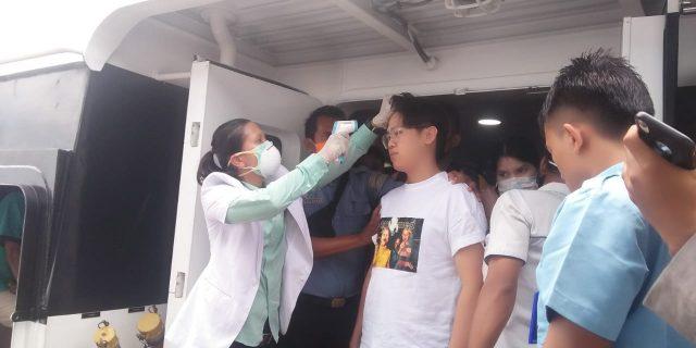 Deteksi Virus Corona, Tim Kesehatan KKP Dan Dinas Terkait Gunakan Thermal Scanner