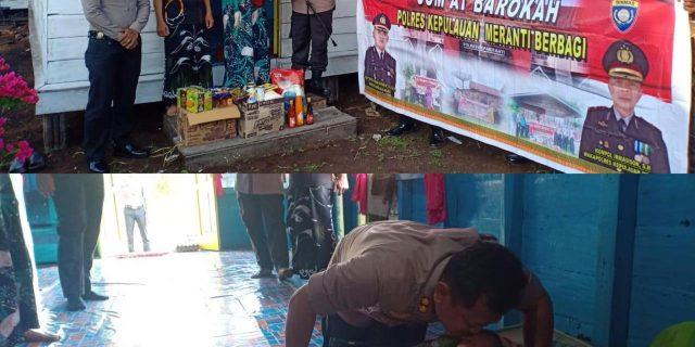 Giat Jum'at Barokah, Polres Meranti Sambangi Anak Yatim Dan Fakir Miskin