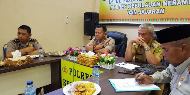 Wabup Said Hasyim dan Kapolres Meranti Teleconfrence Bersama Kapolda Riau