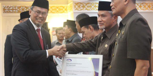 Wabup Said Hasyim Hadiri Pengukuhan Perwakilan BPKP Riau Sekaligus Terima Sertifikat APIP Level III
