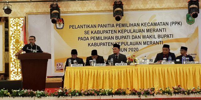 Asisten III Sekda Meranti Hadiri Pelantikan PPK Se-Kabupaten Meranti