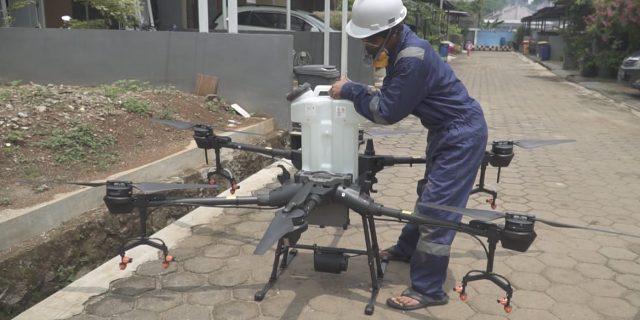 Terbangkan Drone,Ini Langkah Bank BNI Proteksi Masyarakat