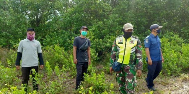 Walaupun Musim Hujan, Bhabinsa Bersama BNPB Terus Laksanakan Patroli Karhutla