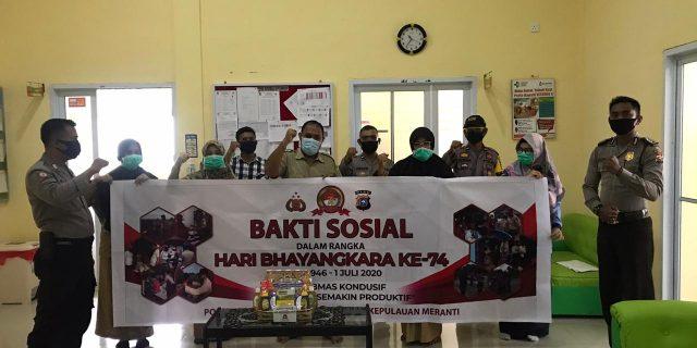 Peringati HUT Bhayangkara ke-74, Polsek Tebingtinggi Barat Beri Bingkisan ke Tenaga Medis