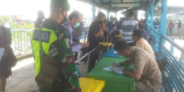 Cegah Covid-19, Koramil 02/Tebing Tinggi Lakukan Pengawasan di Pelabuhan dan Sosialisasi