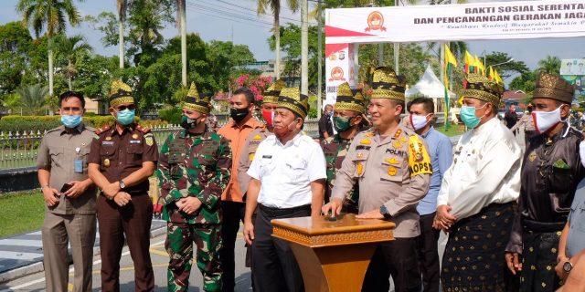 Dipusatkan Di Siak, Polda Riau Gelar Bakti Sosial Serentak Bersempena Hari Bhayangkara Ke-74