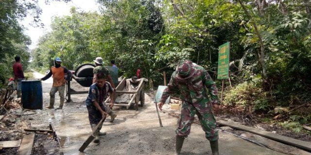 TMMD Ke 108 Kodim 0303/Bengkalis Buka Akses Lebih Luas Untuk Perekonomian Desa Dalam Pembangunan