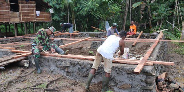 Desa Binaan Jadi Sasaran TMMD Ke 108, Tugas Multi Funhsi Ikhlas Dilakoni Babinsa Yapen Barat