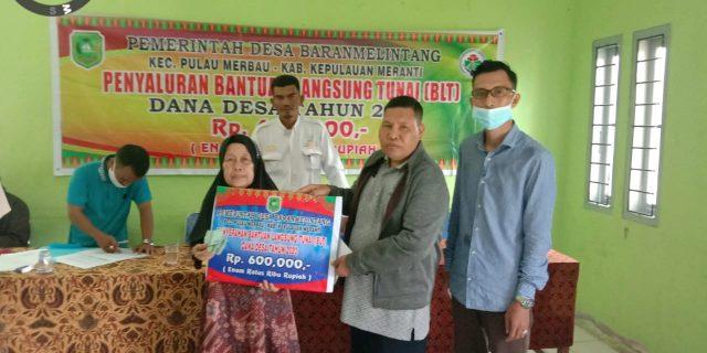 BLT-DD Tahap III Desa Baran Melintang Telah Disalurkan Kepada 50 KK Penerima