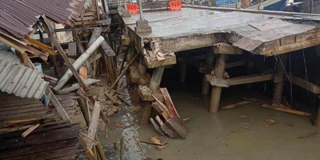 Turap Pelabuhan Camat Selatpanjang Ambruk Untuk Ke Empat Kalinya