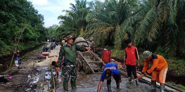 Hadirnya TMMD Kodim 0303/Bengkalis, Tingkatkan Kesejahteraan Masyarakat Desa Temiang