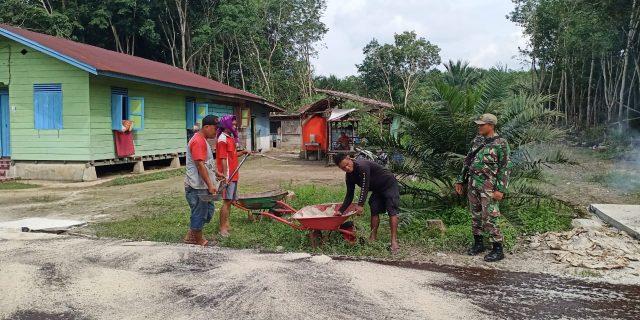 Dansatgas TMMD Ke 108 Lakukan Penyempurnaan Pembangunan di Desa Temiang