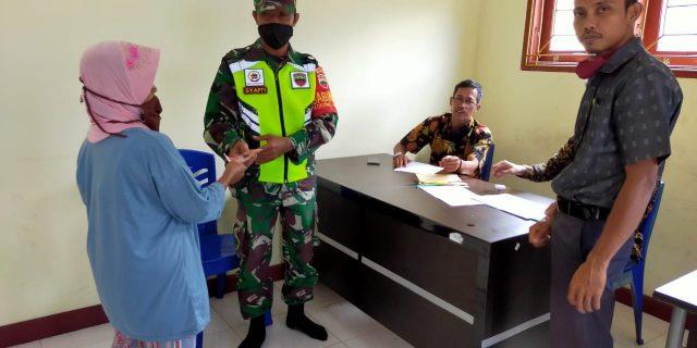 Dampak Covid-19, Babinsa Laksanakan Pendampingan Tahap I APBD Provinsi Riau Tahun 2020