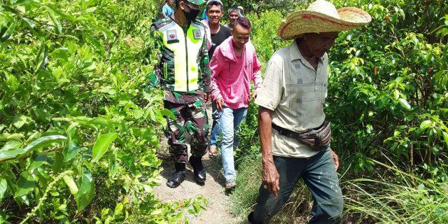 Pencegahan Kebakaran Lahan dan Hutan, Babinsa Koramil 02/Tebing Tinggi Patroli Karlahut di Desa Binaan