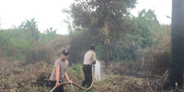 Lahan Di Desa Insit Terbakar, Tim Gabungan Berhasil Padamkan Api