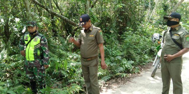 Ditengah Pandemi Covid-19, Babinsa Giat Laksanakan Patroli Rutin Karhutla di Desa Bantar