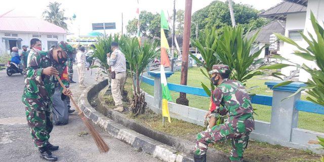 Bersama Muspika Bintan Utara, Jajaran Koramil 03/0315 Bintan Ikut Laksanakan Goro Bersama