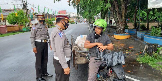 Satlantas Polres Meranti Gelar Strong Point, Cegah Kemacetan dan Kecelakaan