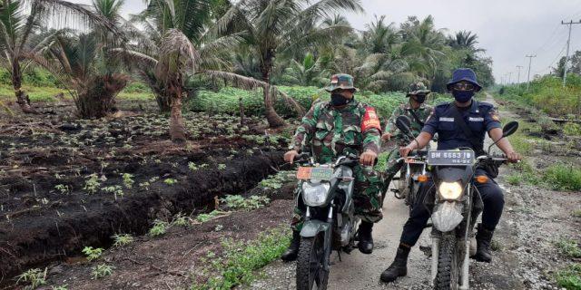 Babinsa Koramil 02/Tebing Tinggi Laksanakan Sosialisasi dan Patroli Karhutla Bersama PT.SRL